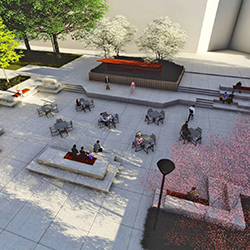 Anderson Library Plaza rendering