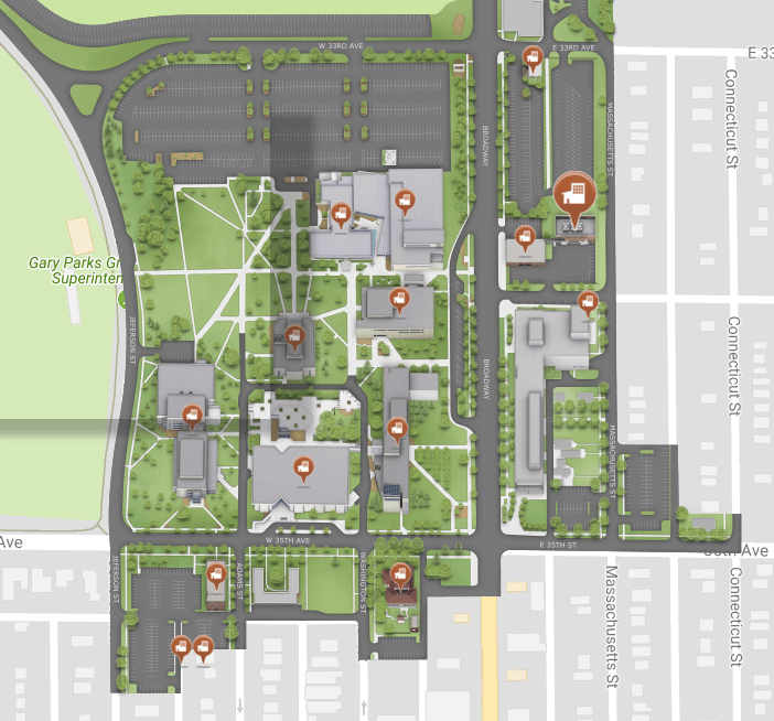 Hobart And William Smith Campus Map.Library Indiana University Northwest
