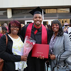 2018 graduate with family