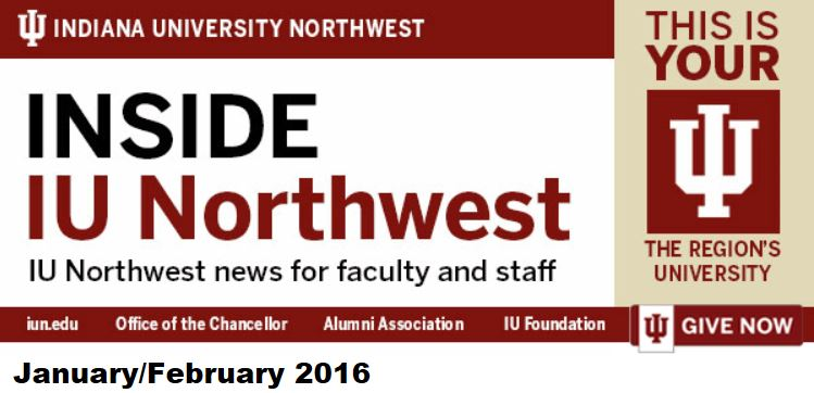 Inside IU Northwest Jan Feb 2016