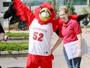 redhawk and student